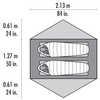 Tente ultralégère Carbon Reflex 2 personnes Rouge vif