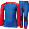 Ensemble de sous-vêtements Lifa en laine mérinos Bleu olympien/Rouge drapeau