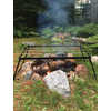 Group Camping Folding Grill Black