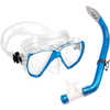 Los Cabos Mask, Snorkel and Fin Set Teal/Clear