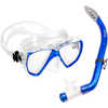 Los Cabos Mask, Snorkel and Fin Set Blue/Clear
