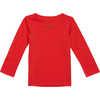 Maillot à col rond en laine mérinos Rouge victorieux