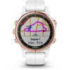 Montre Fenix 5S Plus Sapphire avec bracelet blanc Or rose/Blanc