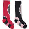 The Brave Twin Pack Ski Socks Magenta/Black Iris