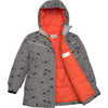 Toaster Parka Falcon Grey Roaming Bear Print