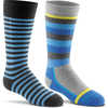 Snow Day 2-Pack Ski Socks Blue Assorted