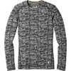 Chandail à col rond en laine mérinos 250 Noir/Rayon de lune chiné