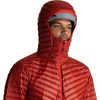 Manteau à capuchon en duvet Radiator Lite Rouge ocre