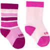 Colour Fan Twin Pack Ski Socks Candy