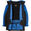 Manteau Glacier Noir/Bleu liberté