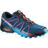 Chaussures de course sur sentier Speedcross 4 Poséidon/Hawaï/Rouge fougueux