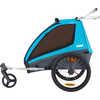 Remorque de vélo Coaster XT/Stroll Bleu ombragé