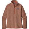 Better Sweater 1/4 Zip Flora Pink