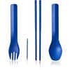 Ustensiles GoBites Quattro Bleu ombragé