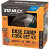 Adventure Base Camp Cook Set - 4x Stainless Steel