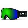 Lunettes de ski I/O Noir/Miroir vert CP/Éclat rose tempête CP