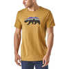 Fitz Roy Bear Organic T-shirt Kastanos Brown