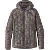 Manteau à capuchon Micro Puff Gris plume