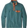 Cotton Quilt Snap-T Pullover Tasmanian Teal