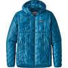 Manteau à capuchon Micro Puff Bleu Balkans