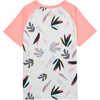 Skylight UPF Short Sleeve T-Shirt Light Grey Tropical Mix Print/Pink Peach