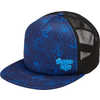 Parkside Trucker Hat Moonlight Blue Loose Hands Print Peace Out Graphic