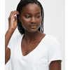 T-shirt Classic à encolure en V Blanc
