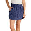Hillrose Skirt Blue Shadow Fern Print