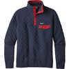 Cotton Quilt Snap-T Pullover Navy Blue