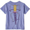 Baby Graphic Organic T-shirt Pedalin/Light Violet Blue