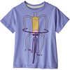 T-shirt en coton biologique Baby Graphic Pedalin/Bleu violet pâle
