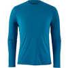 Capilene Cool Lightweight Long Sleeve Shirt Air Stripe/Balkan Blue