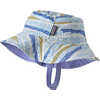 Baby Sun Bucket Hat Button Grass/Break Up Blue