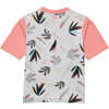 Skylight UPF Short Sleeve T-shirt Light Grey Tropical Mix Print