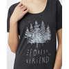 T-shirt Forest Noir météorite