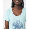 T-shirt Forest Bleu tinté