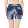 Taiva Shorts White Block Stripes