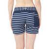 Taiva Shorts White Block Stripes