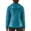 Manteau à capuchon Micro Puff Bleu Mako