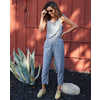 Tara Hemp Jumpsuit Blue Chambray