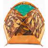 Tente Homestead Domey 3 personnes Motif poly faible orange zinnia/Jaune citrine