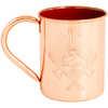 Copper Enamel Lined Mug Axe Crest/Orange