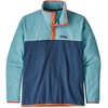 Micro D Snap-T Pullover Stone Blue w/Dam Blue
