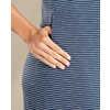 Samba Paseo Midi Dress Deep Navy Mini Stripe