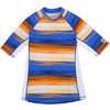 Fiji Sunproof UPF Swim Shirt Blue/Rust Stripe