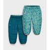 Pantalon réversible Bundle Up Imprimé point de base/Sarcelle foncé