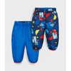 Bundle Up Reversible Pants Bright Blue/Block Print