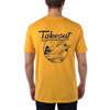 T-shirt Takeout Pocket Jaune ambré