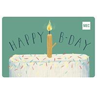 Carte‑cadeau électronique de MEC Anniversaire de naissance