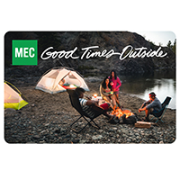 Carte‑cadeau électronique de MEC Camping
